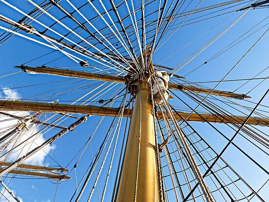 "SV 'Picton Castle"" Masts by globeboater"