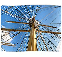 """SV 'Picton Castle"""" Masts Poster"""