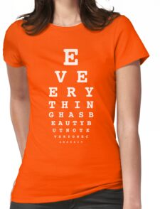 20/20 Vision or something else? -White lettering Womens Fitted T-Shirt