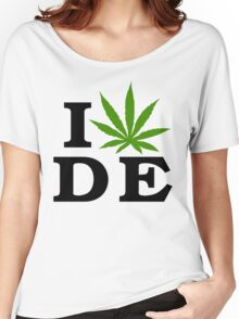 I Love Delaware Marijuana Cannabis Weed T-Shirt Women's Relaxed Fit T-Shirt