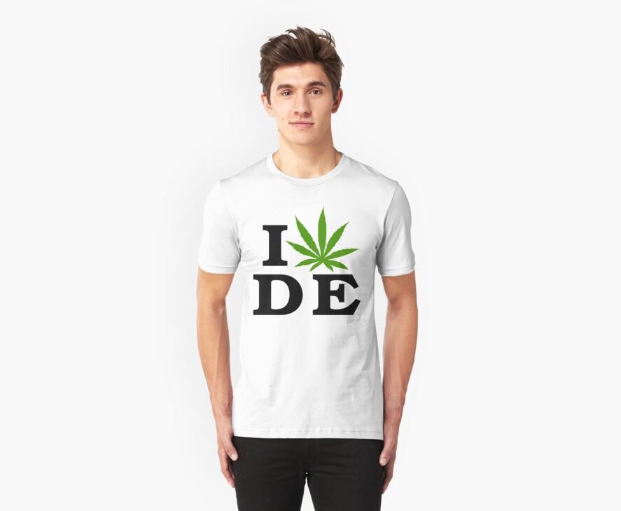 I Love Delaware Marijuana Cannabis Weed T-Shirt by MarijuanaTshirt