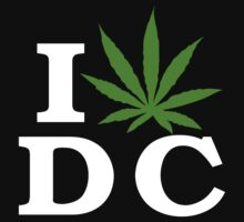 I Love Washington D.C. Marijuana Cannabis Weed T-Shirt by MarijuanaTshirt