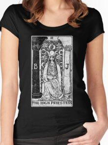 The High Priestess Tarot Card - Major Arcana - fortune telling - occult Women's Fitted Scoop T-Shirt