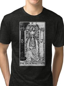 The High Priestess Tarot Card - Major Arcana - fortune telling - occult Tri-blend T-Shirt