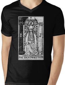 The High Priestess Tarot Card - Major Arcana - fortune telling - occult Mens V-Neck T-Shirt
