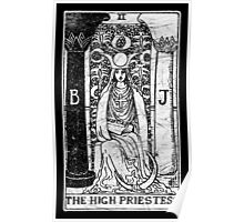 The High Priestess Tarot Card - Major Arcana - fortune telling - occult Poster