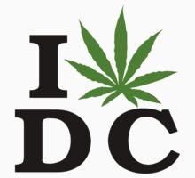 I Love Washington D.C. Marijuana Cannabis Weed T-Shirt by MarijuanaTshirt