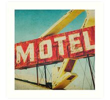 Thrashed Motel Sign Art Print