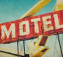 Thrashed Motel Sign by Honey Malek