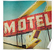 Thrashed Motel Sign Poster
