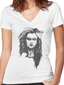 Sarcastic Woman Women's Fitted V-Neck T-Shirt