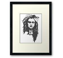 Sarcastic Woman Framed Print
