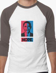 NOPE! No Hope for Obama Men's Baseball ¾ T-Shirt