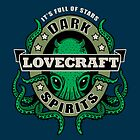 Lovecraft Dark Spirits - dark print by Rebekie Bennington