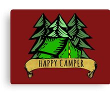 Happy Camper. Canvas Print