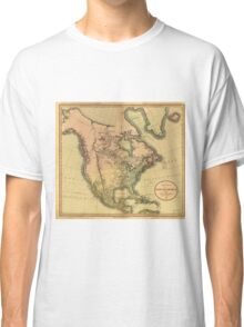 Map of North America by John Cary (1811) Classic T-Shirt