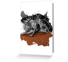 A Warrior's Tear Greeting Card