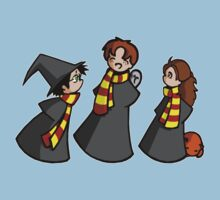Harry, Ron and Hermione One Piece - Short Sleeve