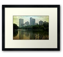 Hazy Milwaukee Framed Print