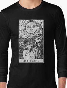 The Sun Tarot Card - Major Arcana - fortune telling - occult Long Sleeve T-Shirt