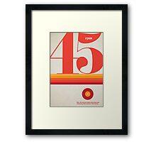 45rpm Framed Print