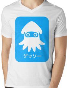 Blooper Blue Mens V-Neck T-Shirt