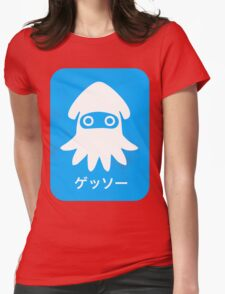 Blooper Blue Womens Fitted T-Shirt