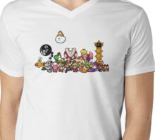 Paper Mario Party Mens V-Neck T-Shirt