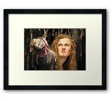 Orlando Bloom ~ Wax Sculpture Framed Print