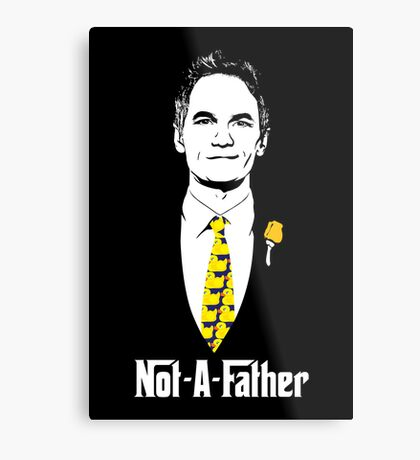 Not-A-Father (Ducky Tie Variant) Metal Print