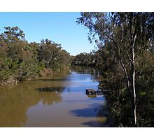 Looking Down the Macintyre River. Goondiwindi, Sth. East. Que. Photographic Print