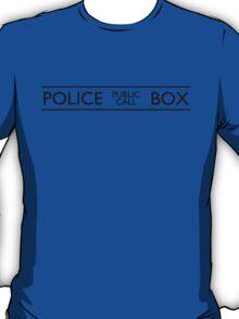 Police Public Call Box T-Shirt