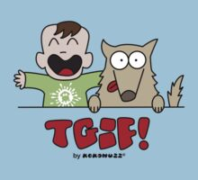TGIF - Happy Luke and Dog Kids Tee