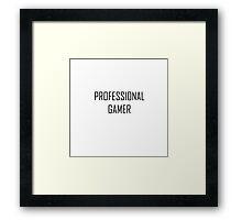 professional gamer Framed Print