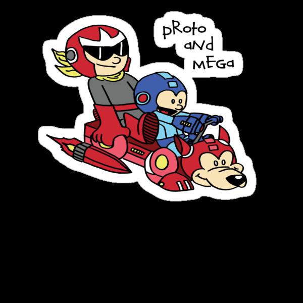 Proto and Mega by voltronbadA