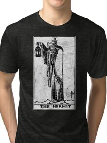 The Hermit Tarot Card - Major Arcana - fortune telling - occult Tri-blend T-Shirt