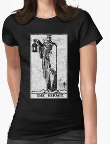 The Hermit Tarot Card - Major Arcana - fortune telling - occult Womens Fitted T-Shirt