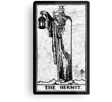 The Hermit Tarot Card - Major Arcana - fortune telling - occult Metal Print