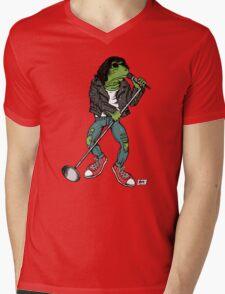 Frog N Roll Highschool Mens V-Neck T-Shirt
