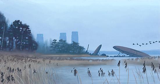 Magnetrindiskar, Spånviken by Simon Stålenhag