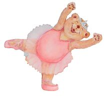 Ballerina Bear (no background) by Monica Batiste