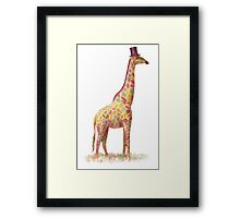 Fashionable Giraffe Framed Print