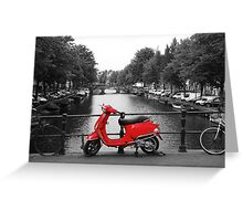 Red Scooter Amsterdam Greeting Card