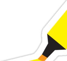A Yellow Highlighter marker  Sticker