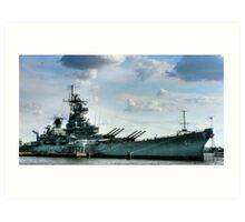 USS Battleship New Jersey Art Print