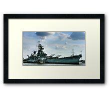 USS Battleship New Jersey Framed Print