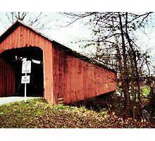 Covered Bridge rustic photograph landscape nature Photographic Print