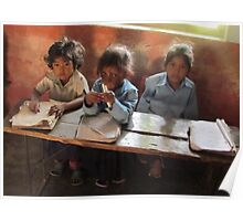 School children, Sarlahi, Nepal Poster