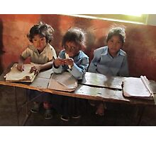 School children, Sarlahi, Nepal Photographic Print