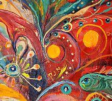 Original painting fragment 14 by Elena Kotliarker